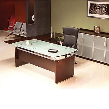 Escritorio tempo cristal muebles modulares muebles for Muebles de oficina precios
