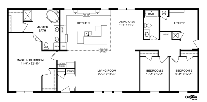 Clayton Homes Home Floor Plan Manufactured Homes Modular Homes Mobile Homes Mobile Home Floor Plans Manufactured Homes Floor Plans House Floor Plans