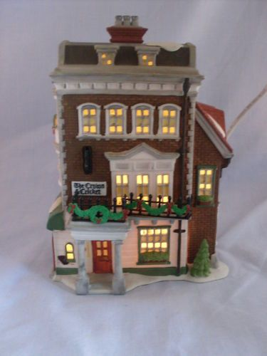 Dept 56 Dickens Village Crown Cricket Inn 57509 1st Edition Retired Dickens Village Dept 56 Dickens Village Christmas Village Houses