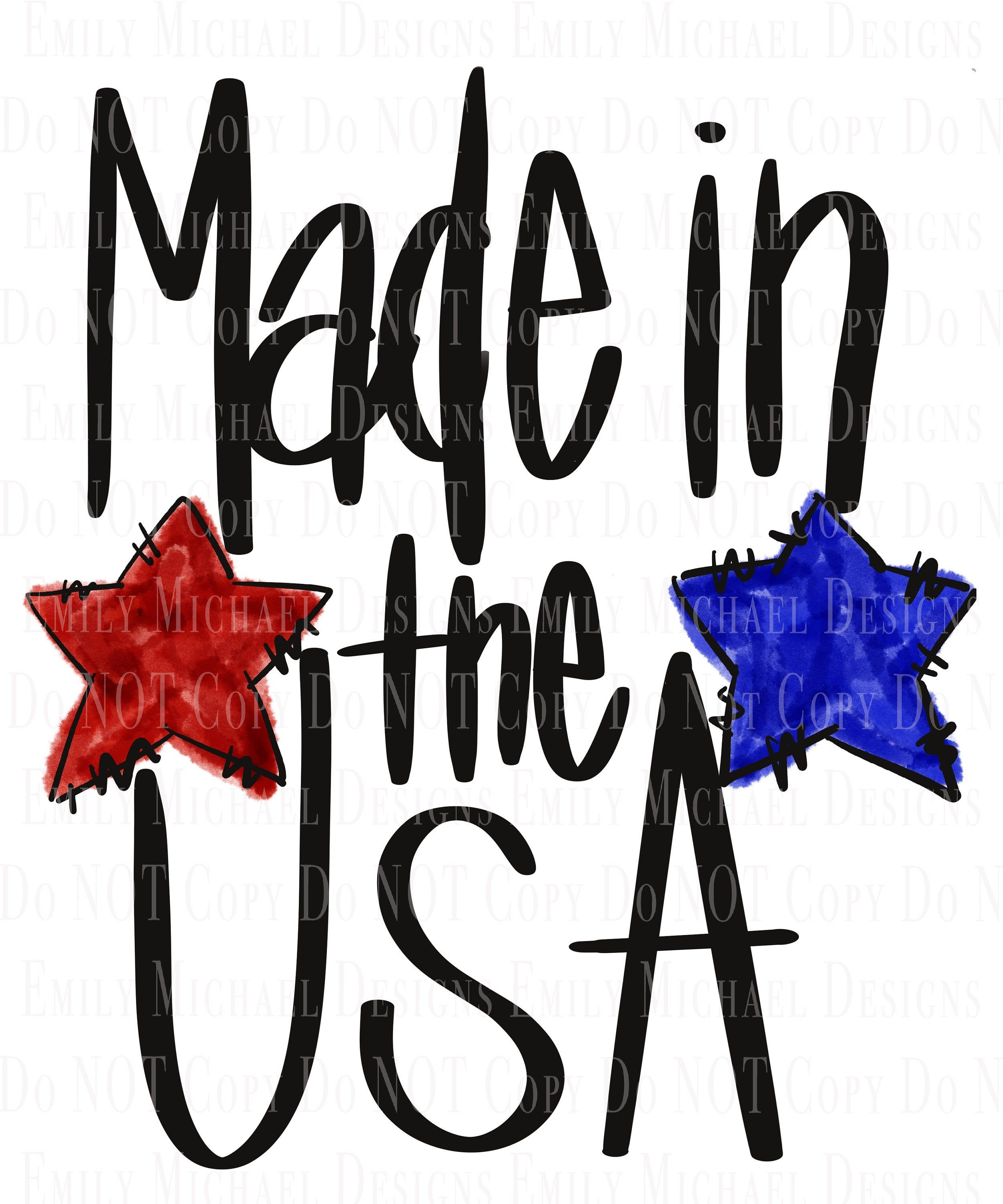 Made In Usa Png Digital Download American Stars Sublimation Etsy In 2020 America Images Print Gifts Artwork Design