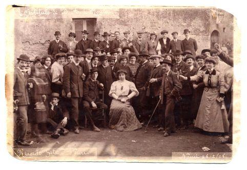 Ricordo della gita di pensionato, 1908