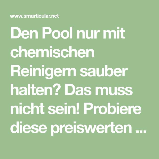 Pin auf pool reinigen