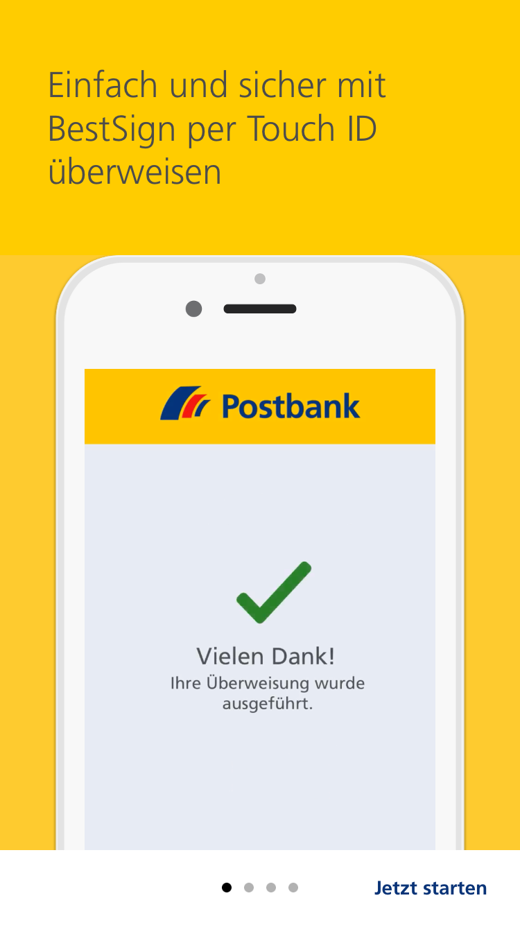 Postbank Animierte Product Tour Mit Kernfeatures 1 Post Bank Und Poster
