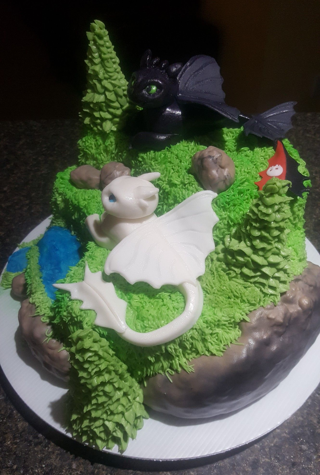 Awesome How To Train Your Dragon 3 Cake Dragon Birthday Cakes Shark Personalised Birthday Cards Veneteletsinfo