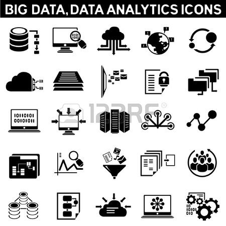 Big Data Icon Set Data Analytic Icon Set Information Technology Data Icon Technology Icon Big Data