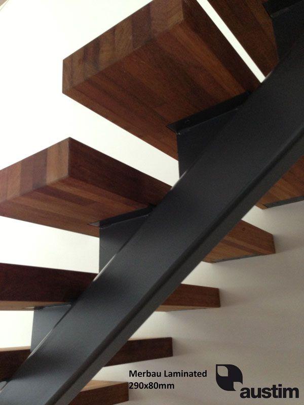 Glulam Stair Treads   Google Search Modern Staircase, Floating Staircase, Staircase  Design, Stair