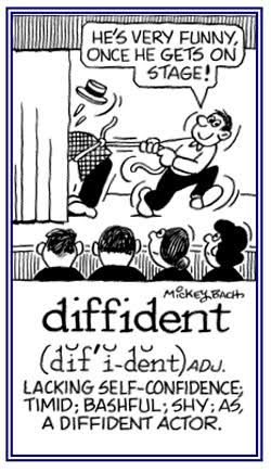 Elegant It Shows The Definition And A Picture For The Word Diffident.