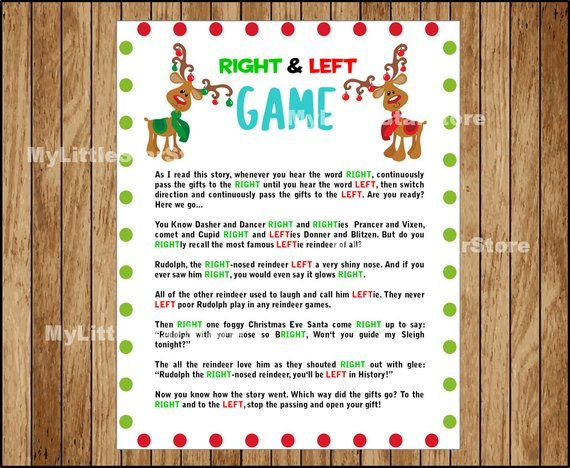 photograph about Left Right Games Printable called Xmas Straight and Still left video game, Printable Rudolph Xmas