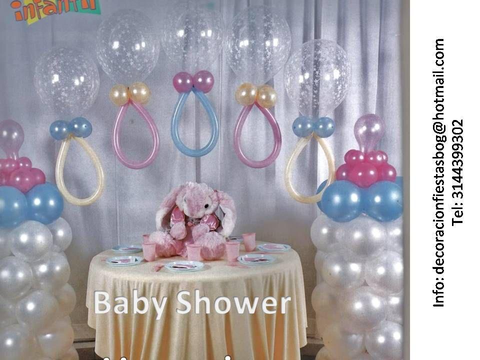 Baby shower decorations globos baby shower - Decoraciones baby shower ...