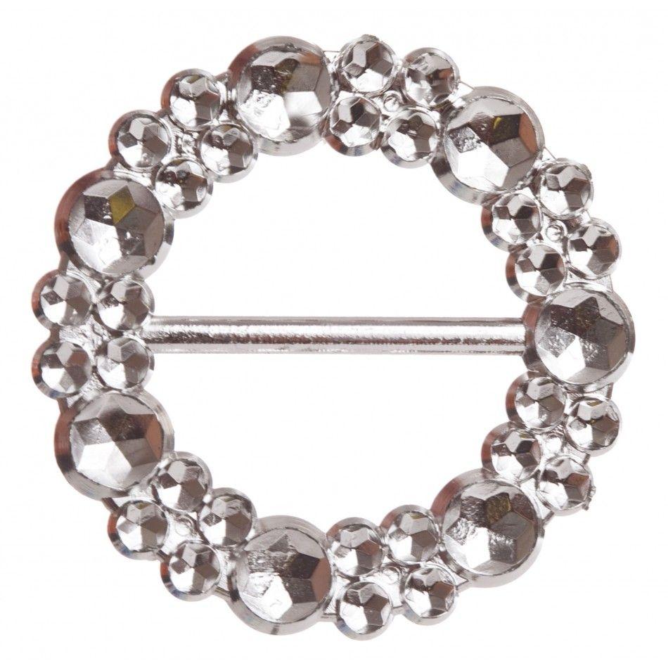 Round silver indent diamond buckle db round silver buckle