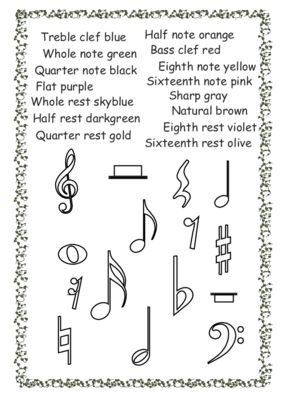 Musical symbols coloring pages from AMStudio on TeachersNotebook