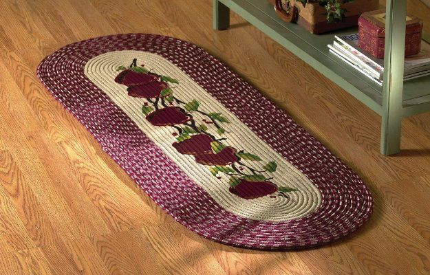 Braided Le Burgundy Kitchen Rug Runner By Collections Etc Home