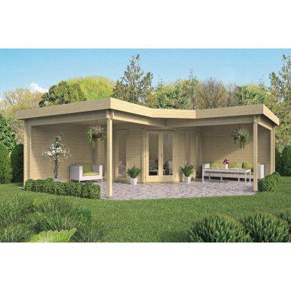 Tuinhuis met terras koop hier goedkoop QS-gartendeco.de