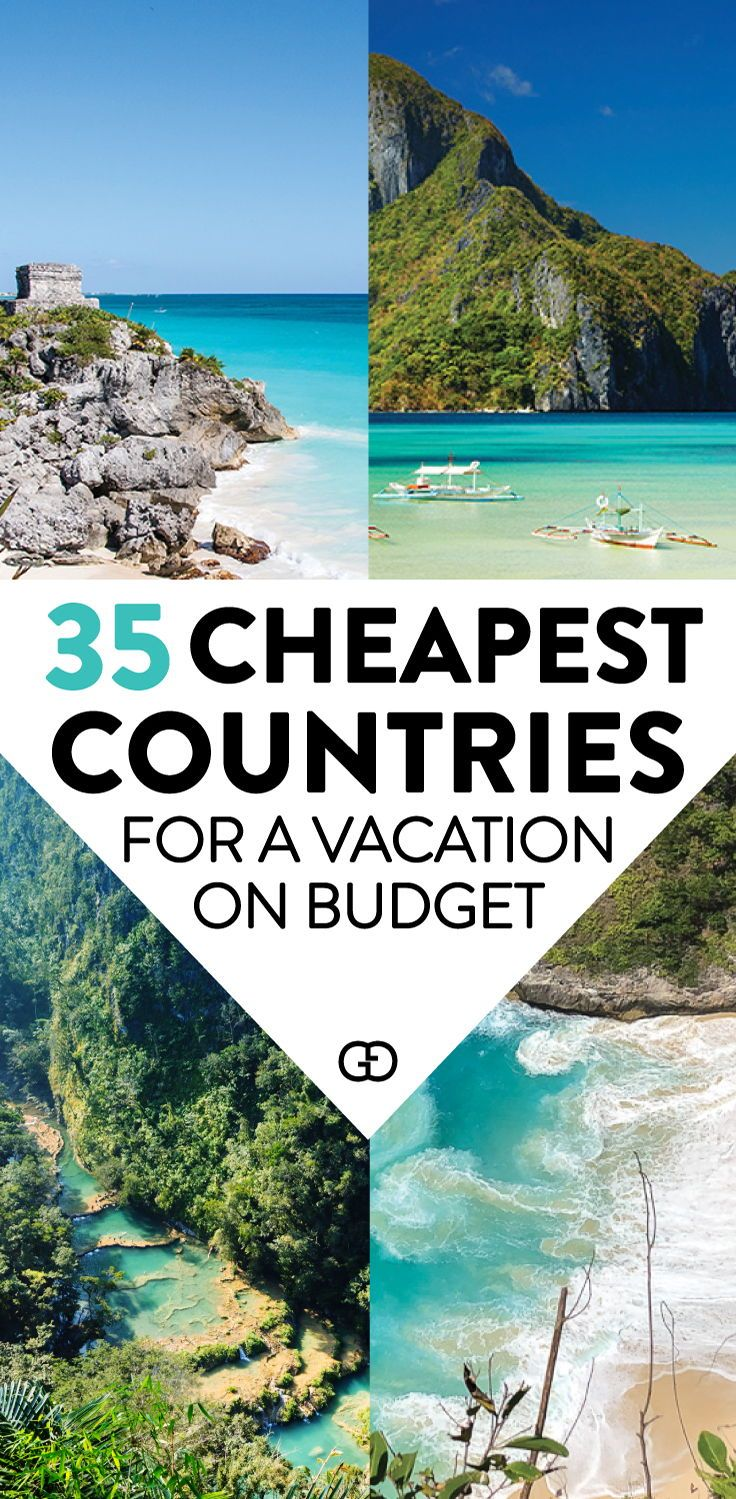 Are you planning your next trip for when this pandemic is over? Find out the top 35 cheapest countries to visit as soon as you can! You can also find tips on how to travel on a budget to these destinations. Tips on average hotel, hostel, food cost and transportation and daily suggested budget for vacations. #travelhacks #cheaptravel #budgettravel #cheapdestinations #travel #travelonabudget #traveldestinations