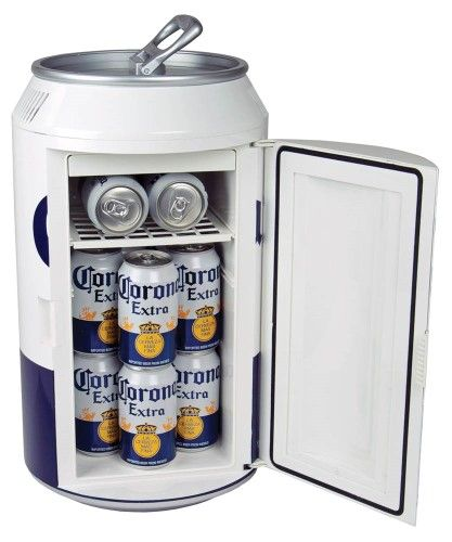 Cor12 Corona Can Cooler With One Sliding Removable Shelf And Self Locking Recessed Door Handle White Beer Fridge Mini Cooler Mini Fridge
