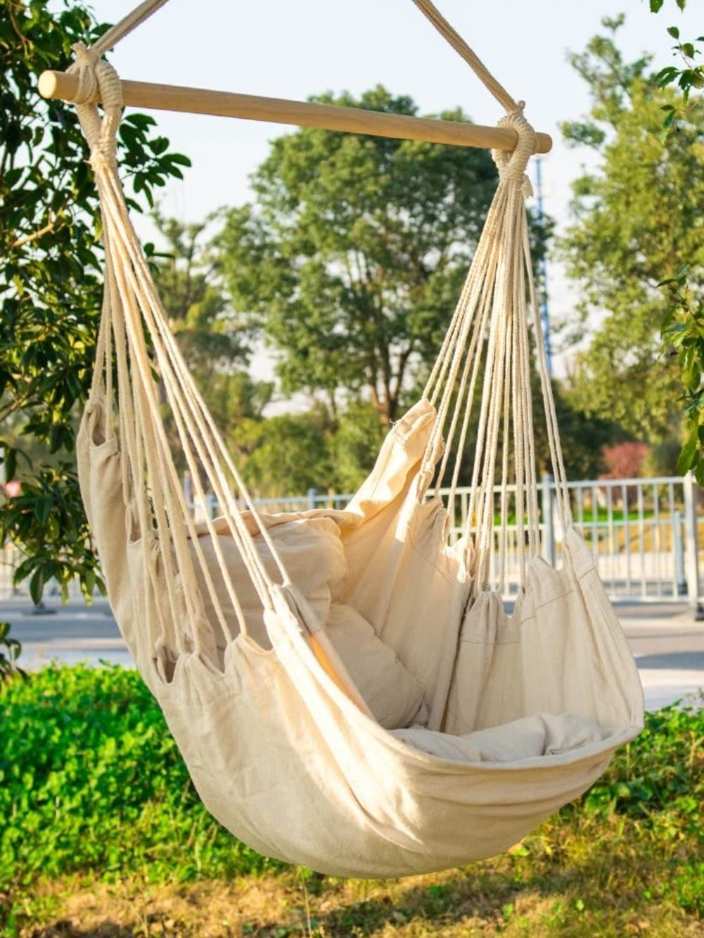 Cctro Hanging Rope Hammock Chair Swing Seat In 2020 Hammock Swing Chair Porch Chairs Rope Hammock Chair