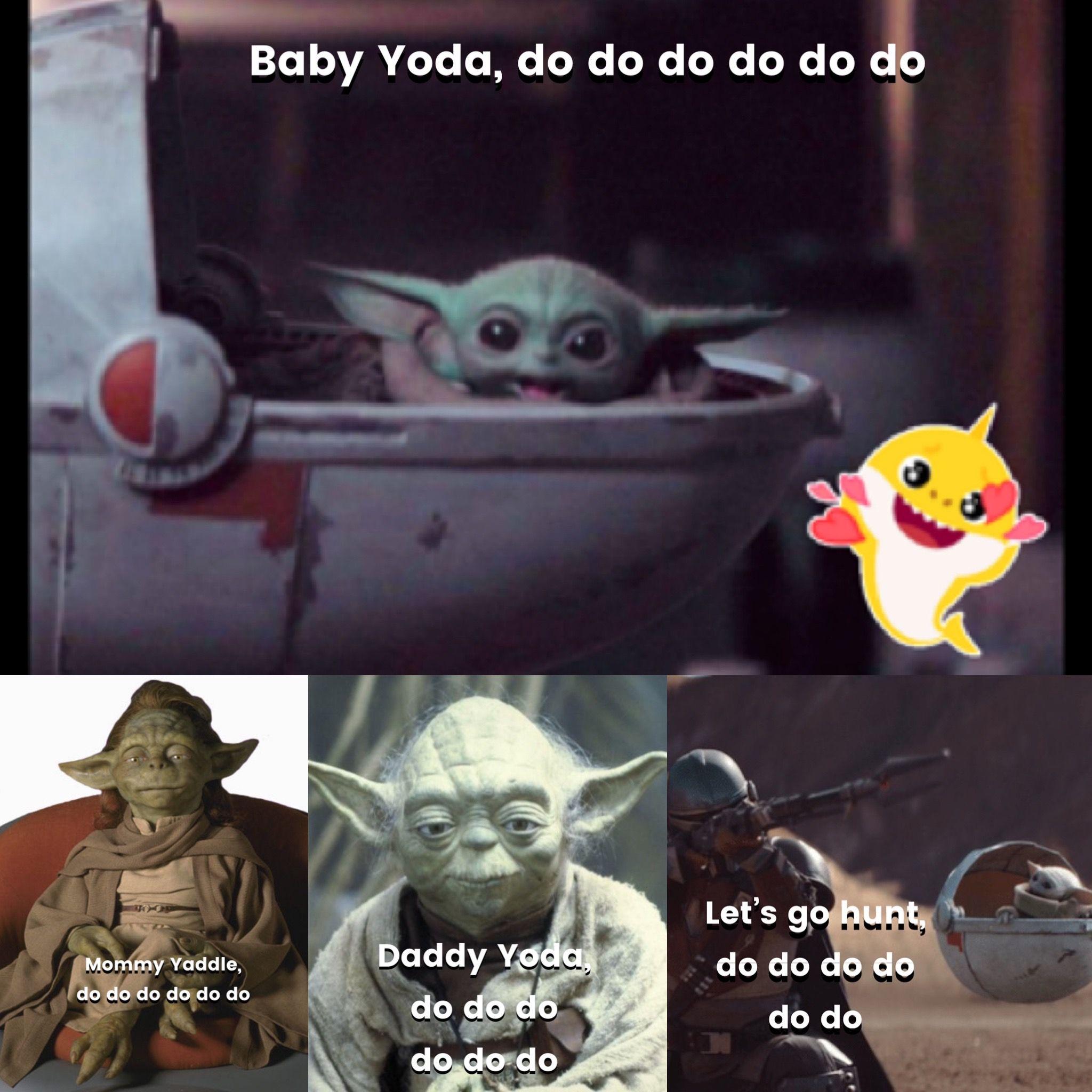 Baby Yoda Do Do Do Do Do Do Babyyoda Babyshark Yoda Starwars Mandalorian Disneyplus Yoda Funny Star Wars Memes Star Wars Fandom