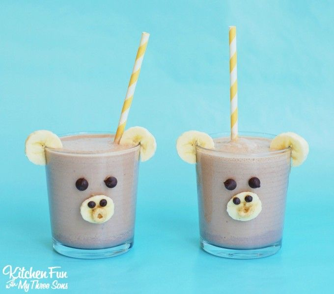 Smoothie for Kids - Chocolate Peanut Butter Banana Smoothie Monkey from…