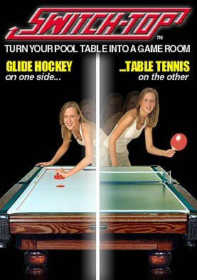 Switch Top For 8ft Pool Tables Ping Pong Glide Hockey Pool