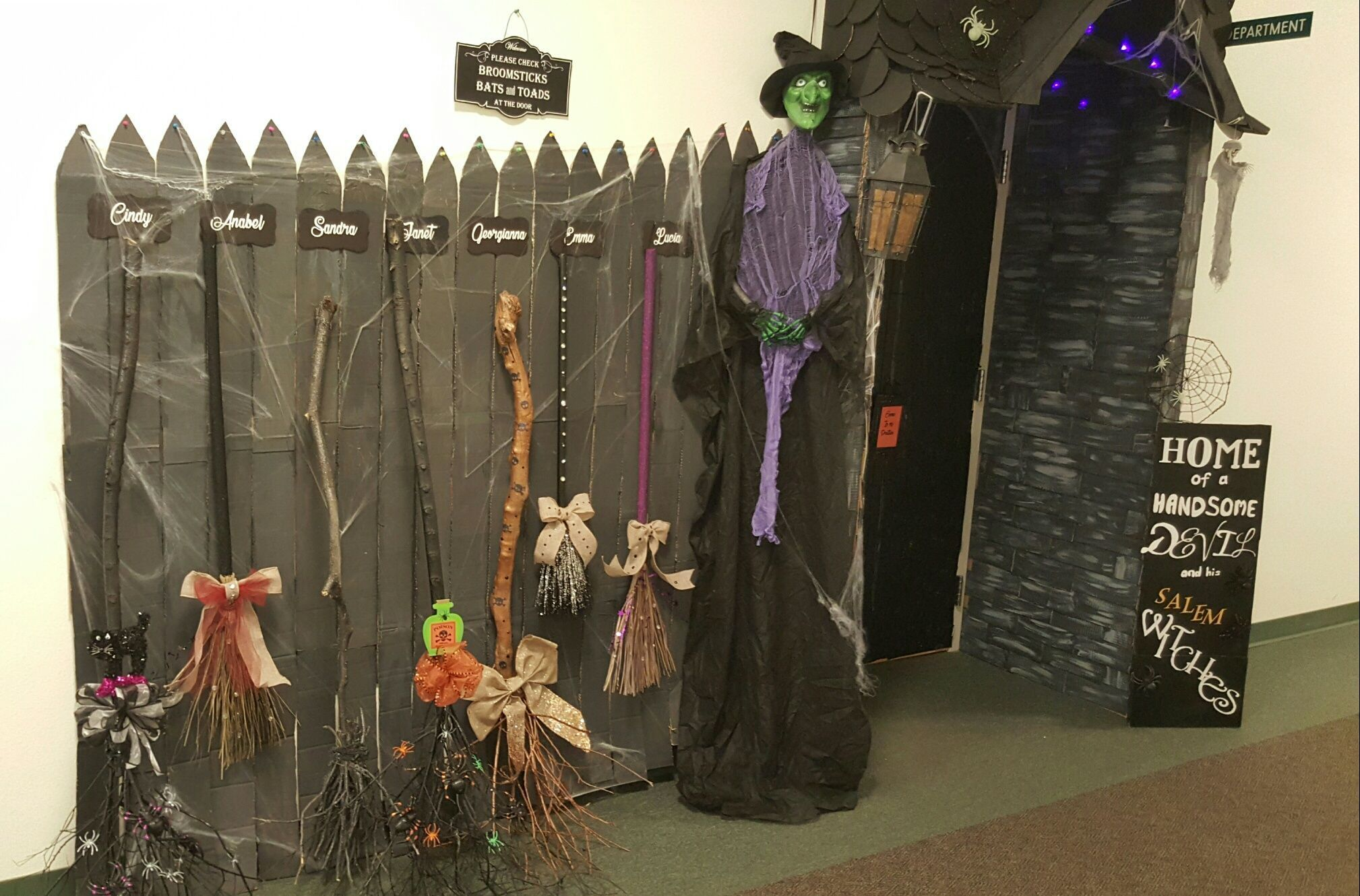 Broomsticks each made to specify the witches whom they belong to. Chaves County 2016 Door decorating contest. #doordecoratingcontest Broomsticks each made to specify the witches whom they belong to. Chaves County 2016 Door decorating contest. #doordecoratingcontest Broomsticks each made to specify the witches whom they belong to. Chaves County 2016 Door decorating contest. #doordecoratingcontest Broomsticks each made to specify the witches whom they belong to. Chaves County 2016 Door decorating