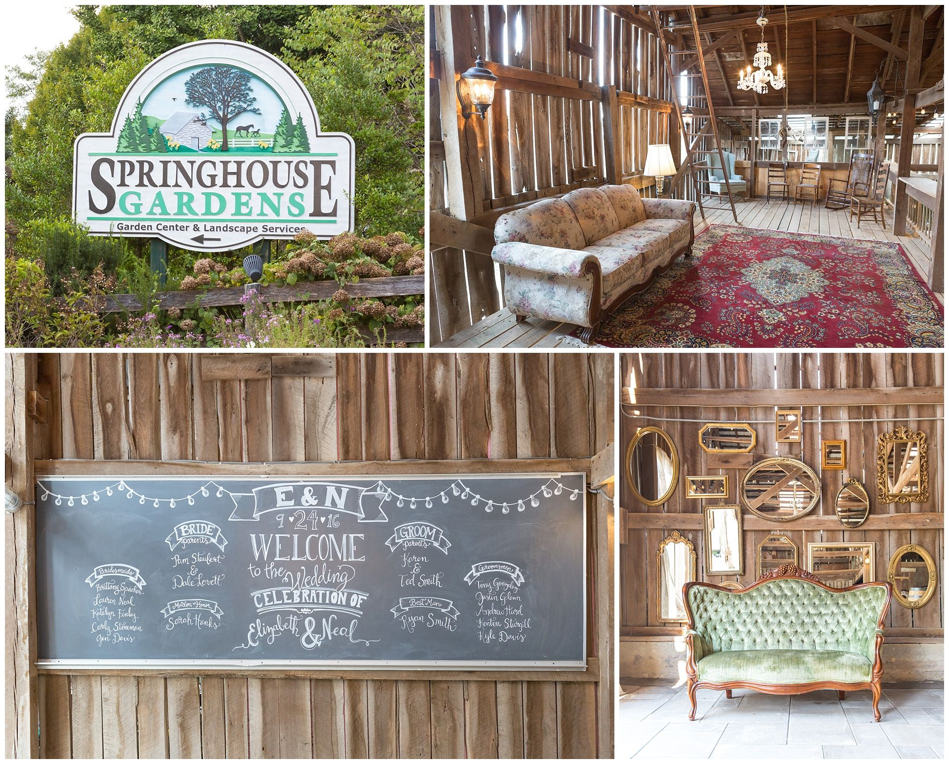 Wedding At The Barn At Springhouse Gardens In Nicholasville Ky