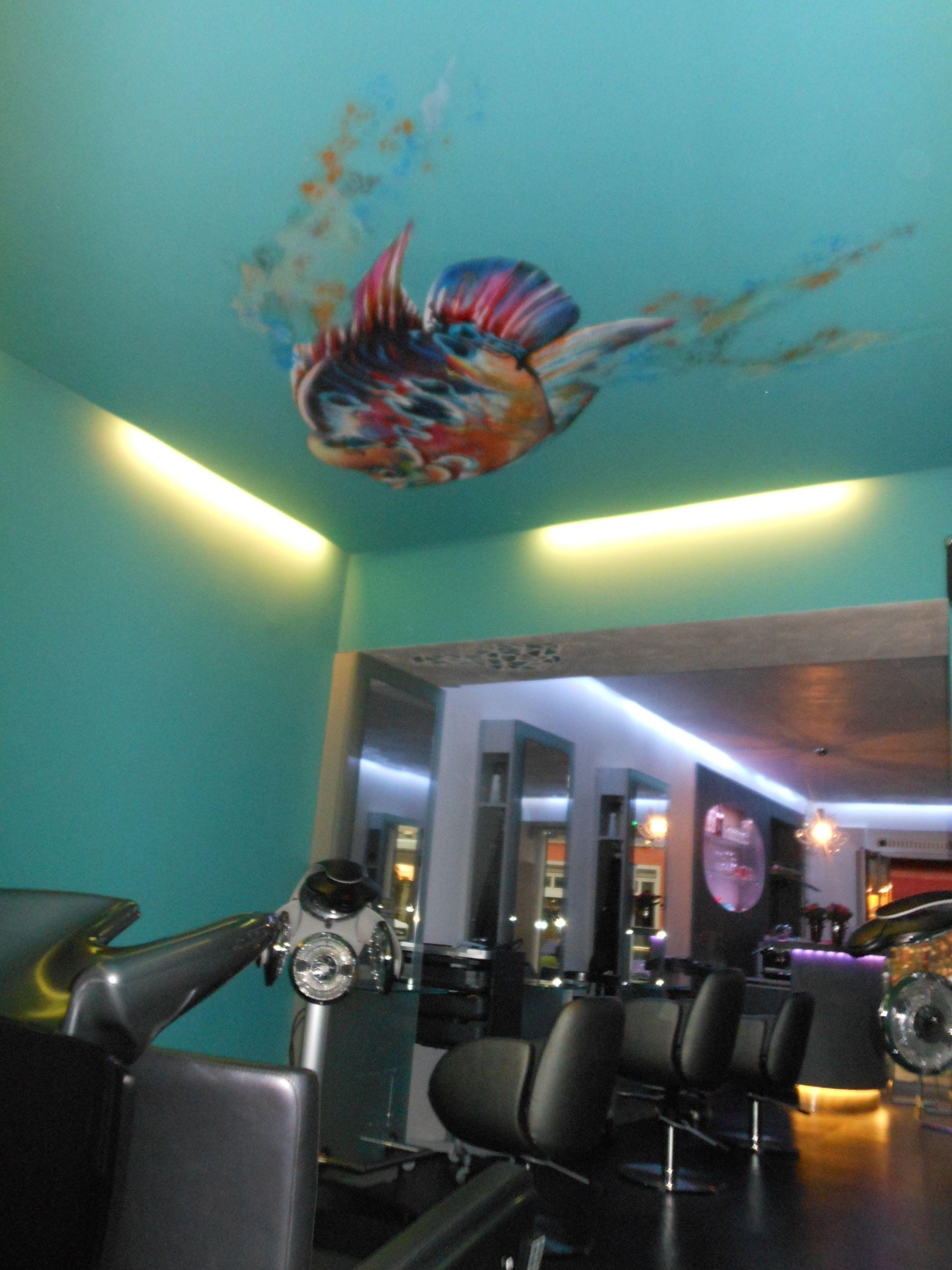 Deckengemälde Wandmalerei in Deggendorf Friseur Hairworx Melanie ...