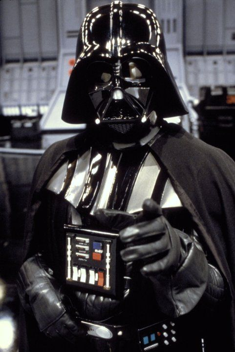 Darth Vader, the main character of the Dark Side of the Star Wars universe