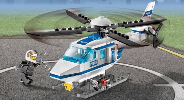 Lego City Products 7741 Police Police Helicopter Legos