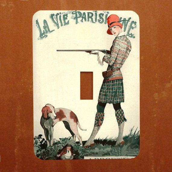 A'Hunting We Will Go  Vintage French Magazine by Polkadotdog