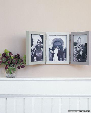 Photo Frame Ideas | Triptych, Martha stewart crafts and Craft