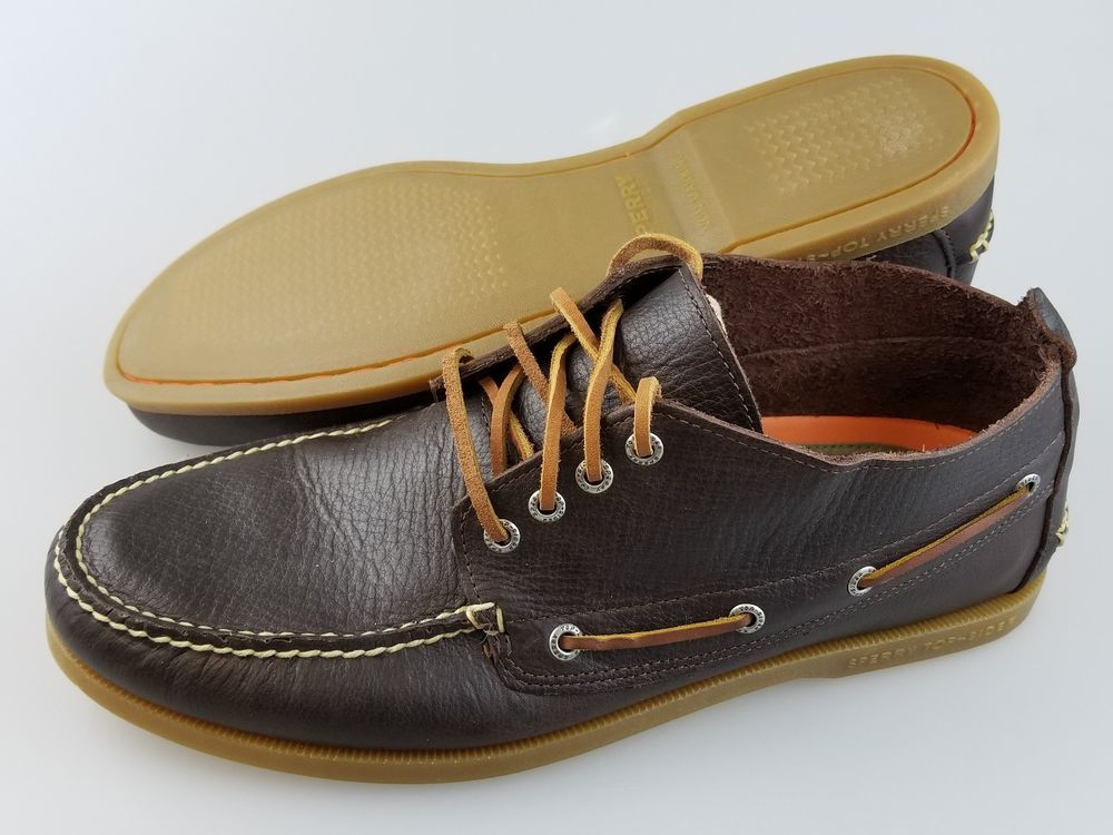 26fd7557109 SPERRY TOP SIDER Boardwalk Chukka Brown Leather Ankle Boat Shoes ...