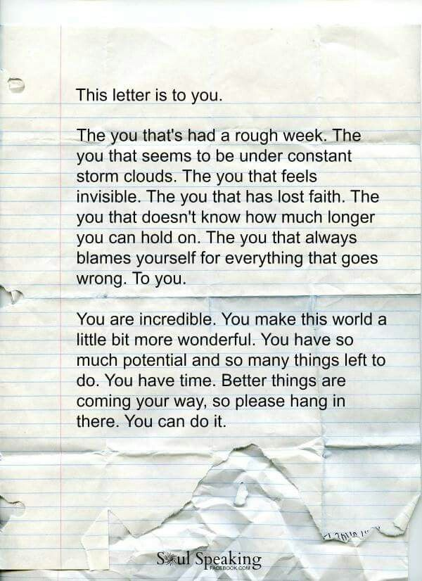 for you inspiring letter to self for bad days weeks inspiring