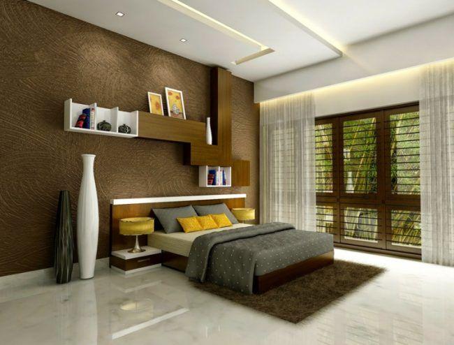 wohnideen für schlafzimmer marmor fussboden braun putz wand vasen - wohnideen fur schlafzimmer designs