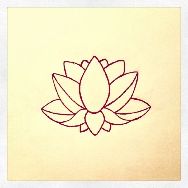 It's just a graphic of Revered Simple Lotus Flower Drawing