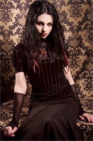Proper Elegance Velvet Striation shirt by Heavy Red