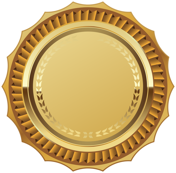 Gold Seal with Ribbon PNG Clipart Image | Badges and ...