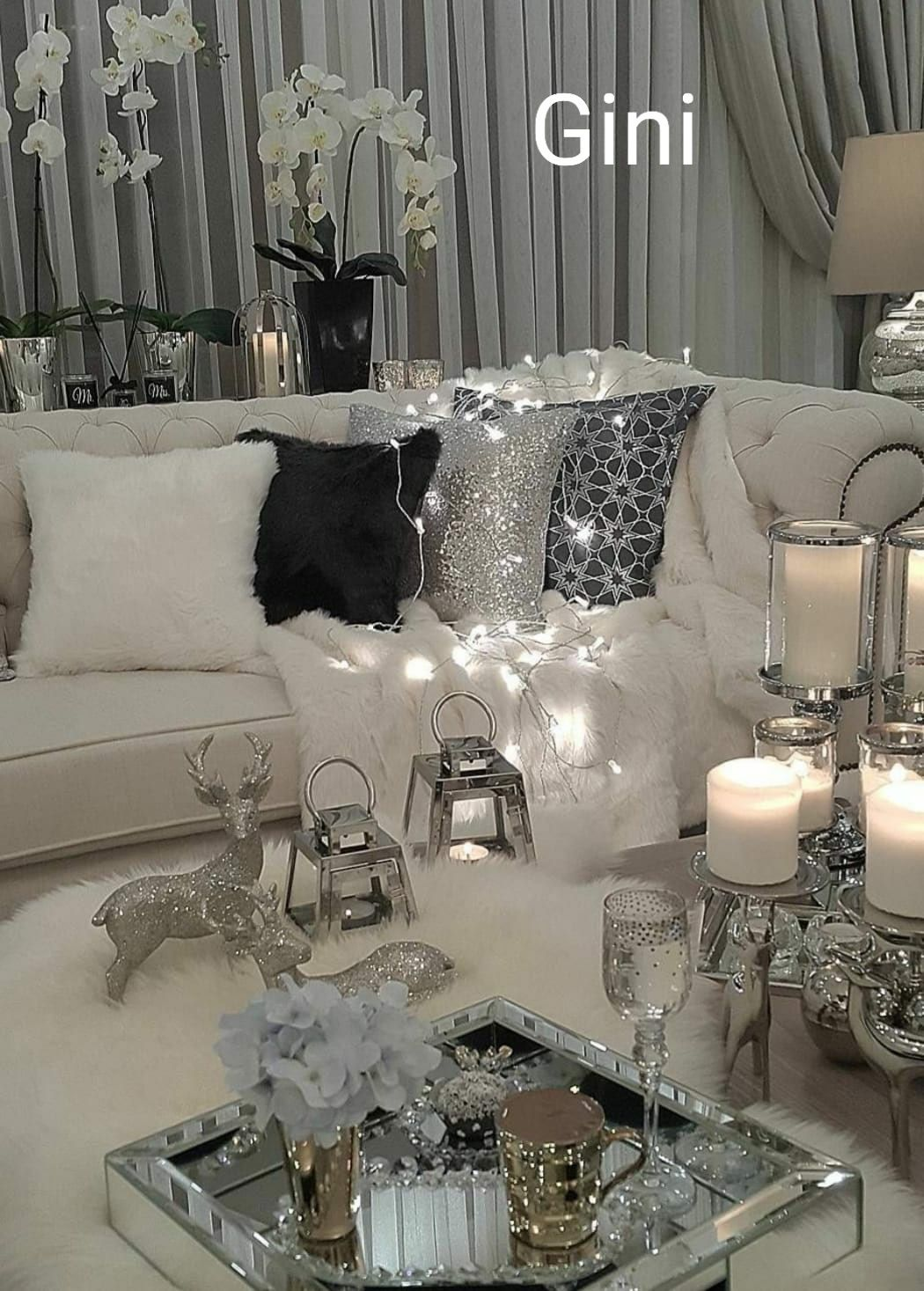 Pin By Milagros Rosa On Sala Winter Living Room Decor Modern Glam Living Room Winter Living Room #winter #living #room #ideas