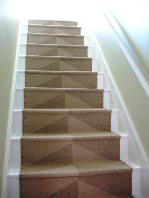 DIY Nailhead Stair Runner (with Ikea Runners)