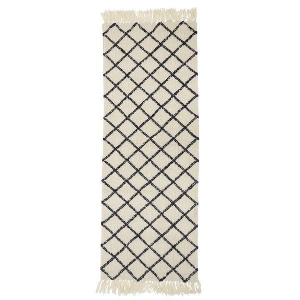 Bloomingville Natural Wool Rug 200 X 70cm Beaumonde