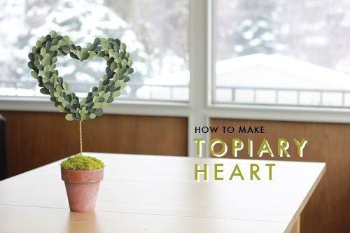 How to make a paper topiary heart