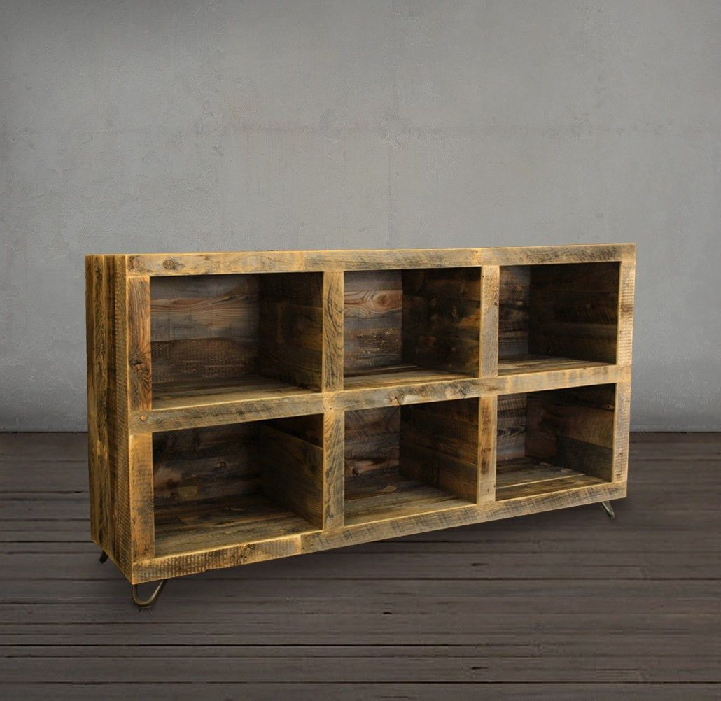 reclaimed wood media console bookshelf free shipping - Reclaimed Wood Media Console