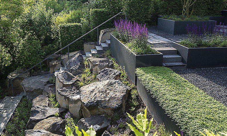 kategorie privatgarten garten am hang formaler garten | terrasse ... - Garten Am Hang