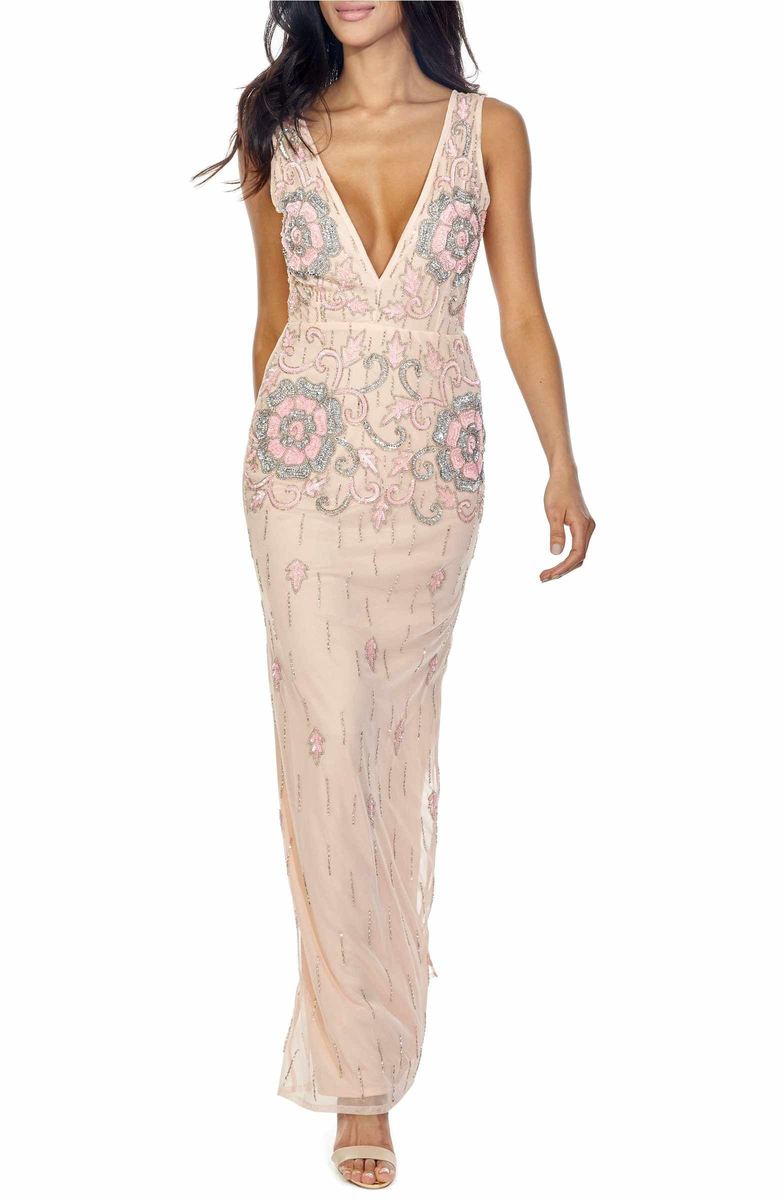 Main image lace u beads gilly sequin maxi dress long dresses