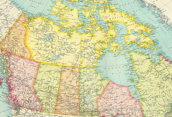 Map Of Canada Download.Antique Canada Digital Map Canada Map Poster North America