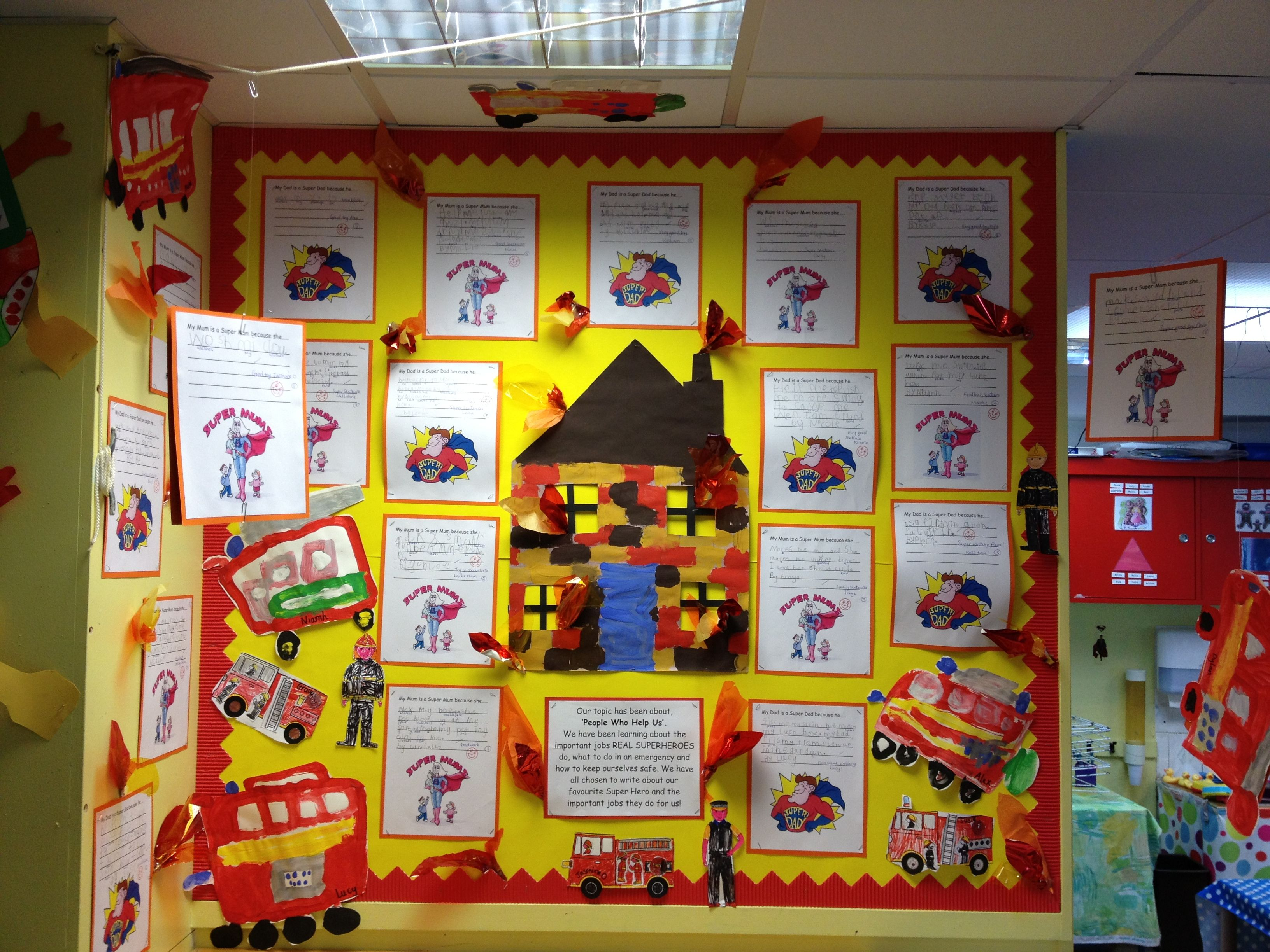 Display About People Who Help Us