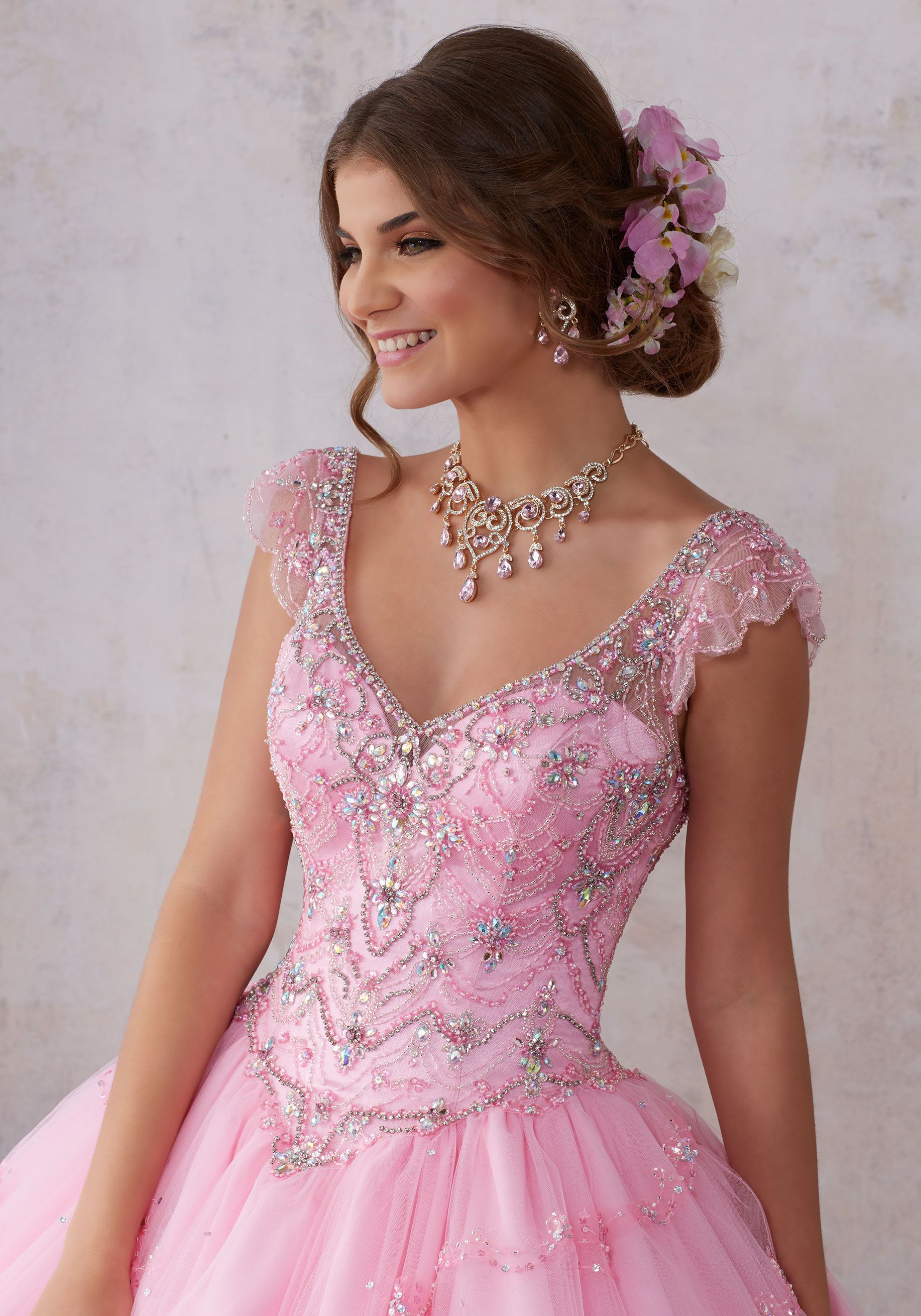 Fit for a Fairytale, This Tulle Quinceañera Ballgown Features a ...