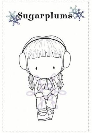 C.C. Designs - Cling Mounted Rubber Stamp - Sugarplums Brrr Emma,$5.99