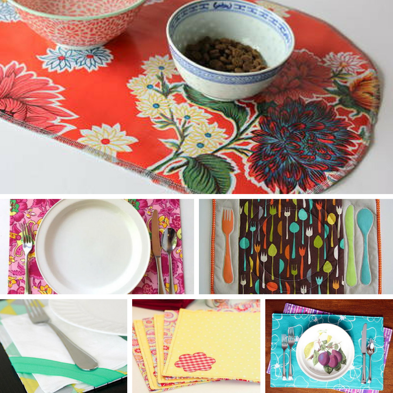 Make Your Own Placemats With These 19 Sewing Patterns How To Make Placemats Sewing Patterns Placemats