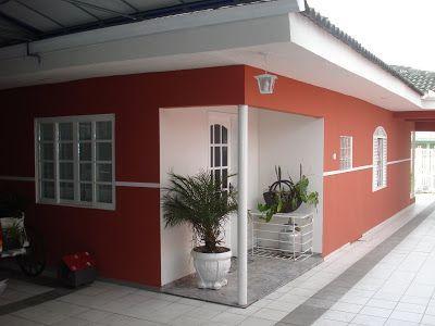 Cor Tomate Seco Suvinil Cores De Casas Modernas Exteriores De Casas Fachadas De Casas Terreas