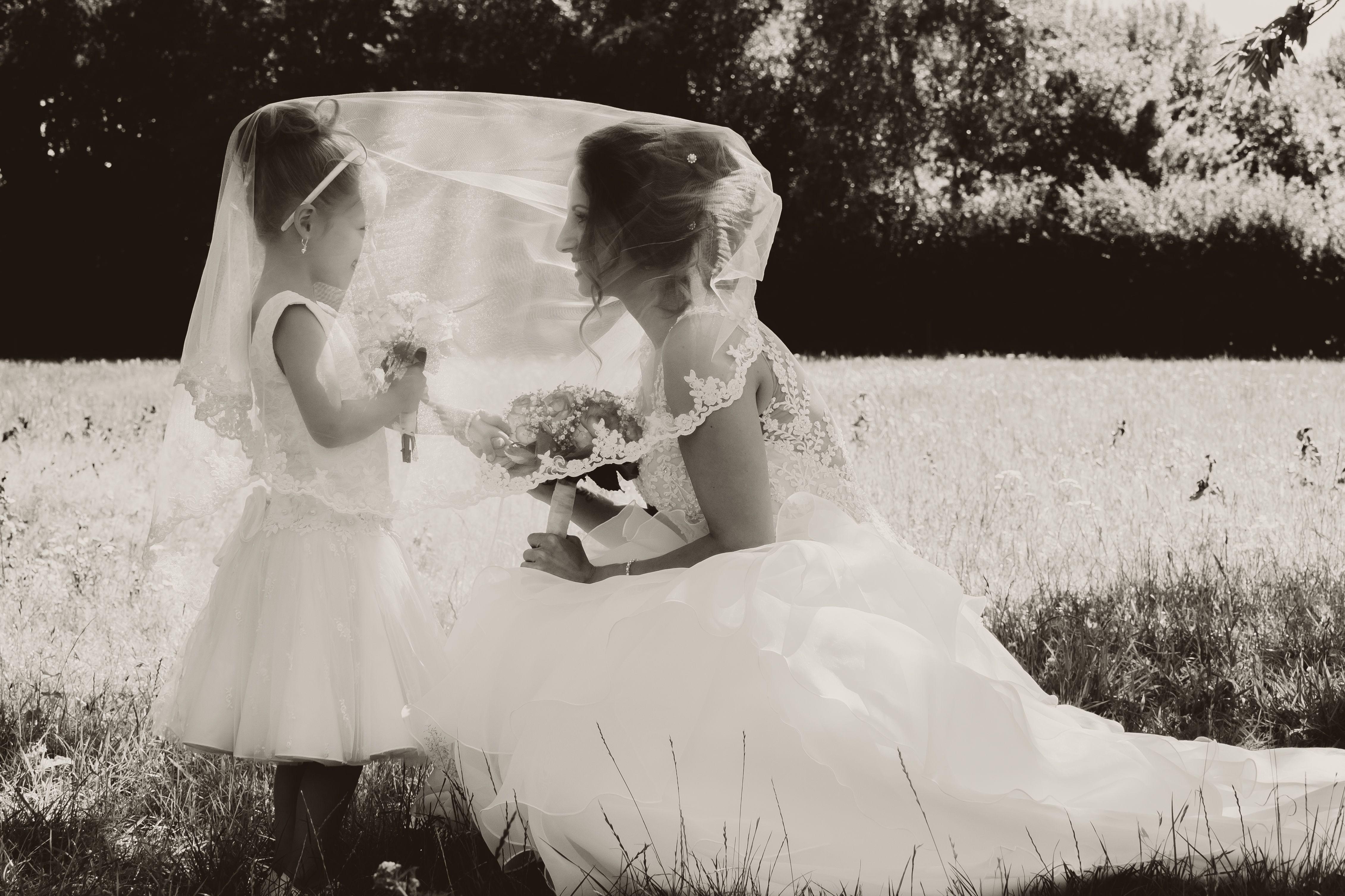 Moeder Dochter Wedding Bruiloft Trouwjurk Fotoshoot